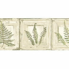 879788 Framed Ferns Wallpaper Border NL57041b