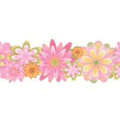 879810 Flower Power Wallpaper Border CK83122b