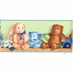 879812 Toys on a Shelf Wallpaper Border CK83212b