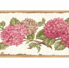 879814 Pink Hydrangea Wallpaper Border CT46003b
