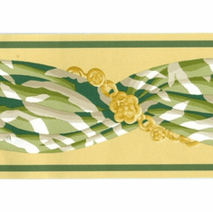 879834 Blanche Decorative Narrow Yellow/Green Wallpaper Border 413b742130