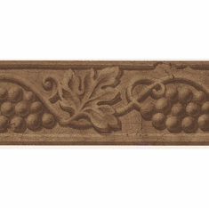 879842 Narrow Architectural Grape and Grape Leaves Wallpaper Border 30662590