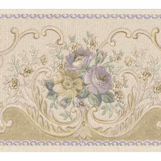 879847 Satin Rose Scroll Wallpaper Border 965b80722