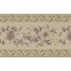 879852 Satin Floral Wallpaper Border BVB06205
