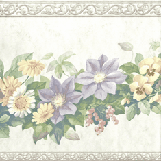 879854 Floral Swag Wallpaper Border 12167