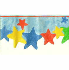 879862 Scalloped Stars Wallpaper Border 92543FP
