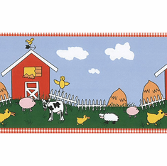 879863 Down on Papa's Farm Wallpaper Border 94407