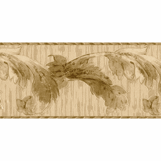 879876 Satin Textured Acanthus Leaf Wallpaper Border 963b61690