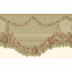 879881 Victorian Swag Gold Satin Floral Wallpaper Border 974b60944
