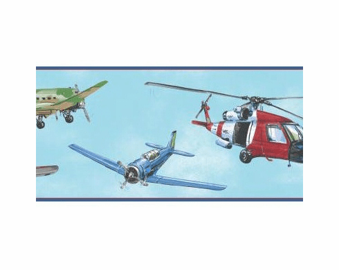 879886 Air Rescue Helicopter Planes Wallpaper Border BS5300bd