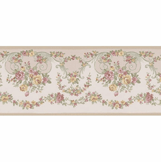 879894 Narrow Floral Trail Wallpaper Border 04968b 418B176