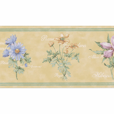 879896 Botanical Floral Wallpaper Border 229b49906
