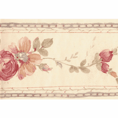 879910 String Along Floral Wallpaper Border FCM47019b