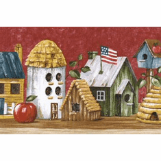 879920 Patriotic Birdhouse Wallpaper Border HIC0020