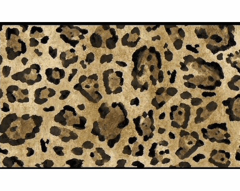 879922 Leopard Print Black and Browns Wallpaper Border GK8977bd