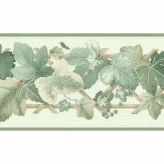 879923 Grapevine Lattice Wallpaper Border BVB03445