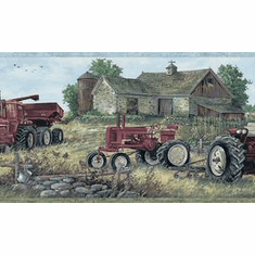 879924 Countryside Tractor Wallpaper Border BVB03446