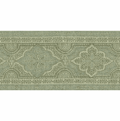 879931 Chesapeake Alfred Paisley Wallpaper Border Aqua MAN01863B