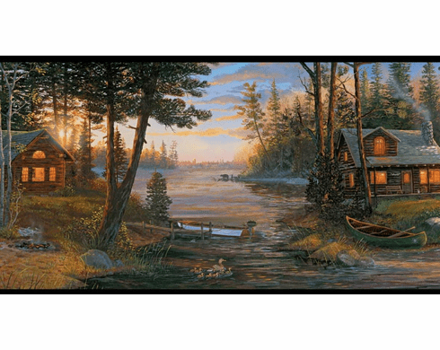 Cabin in The Woods Wallpaper Border CH7842b
