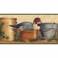 Crock Duck Decoy Wallpaper Border TC48112b