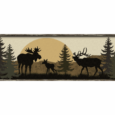 Moose Bear and Elk Silhouettes Wallpaper Border LM7946bd