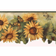 Scalloped Sunflower Wallpaper Border BG71362da