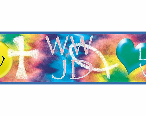 What Would Jesus Do? Wallpaper Border