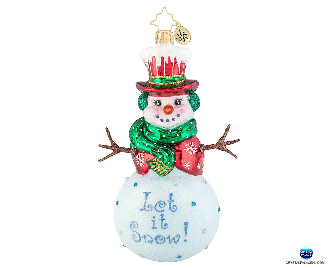 1019655 Christopher Radko Snow Day Snowman Christmas Ornament