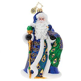 (SOLD OUT)  Princely Peacock Santa