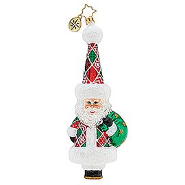 (SOLD OUT) Trendy quilted santa
