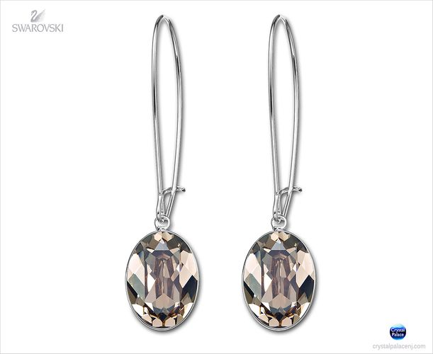 (SOLD OUT) Swarovski Greige Puzzle Pierced Earrings