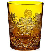2014 Snowflake Wishes Peace Amber Prestige DOF Glass
