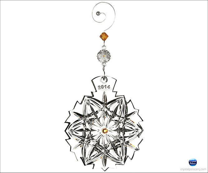 (SOLD OUT) 2014 Waterford Snowflake Wishes Peace Ornament