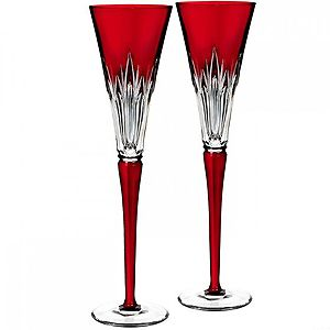 2016 Times Square Wonder Ruby Flutes, Pair