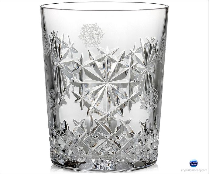 2018 Snowflake Wishes Happiness Double Old Fashioned Glass, Clear