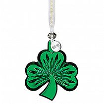 2018 Shamrock Ornament, Green