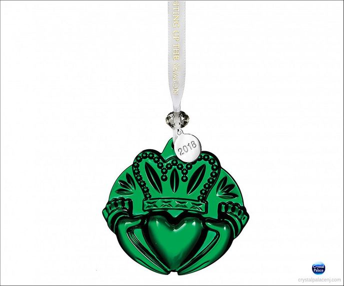 2018 Claddagh Ornament, Green