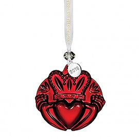 2018 Claddagh Ornament, Red