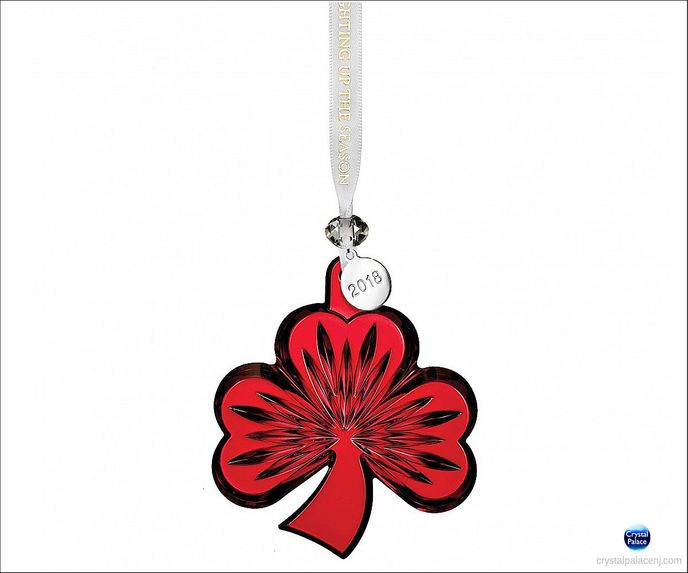 40033080 2018 Shamrock Ornament, Red