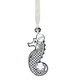 (SOLD OUT)  2018 Seahorse Ornament, Clear