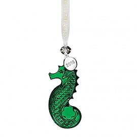 (SOLD OUT) 2018 Seahorse Ornament, Green