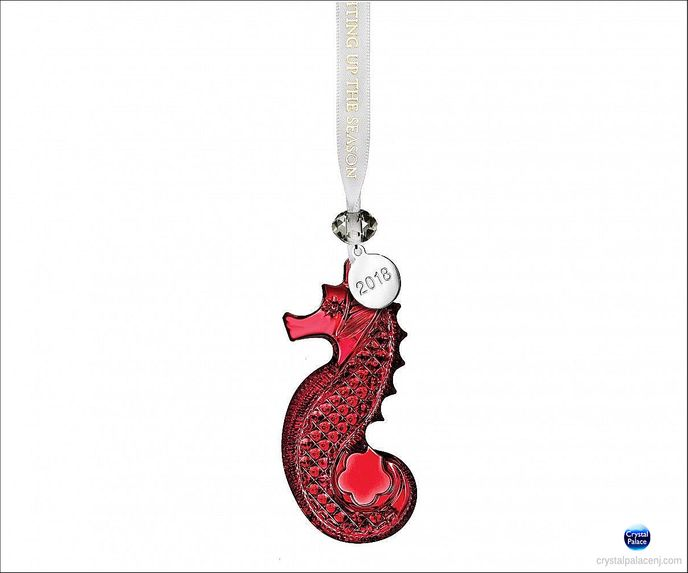 2018 Seahorse Ornament, Red