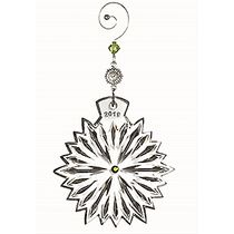 Snowflake Wishes Prosperity Ornament 2019 Lime Jewels