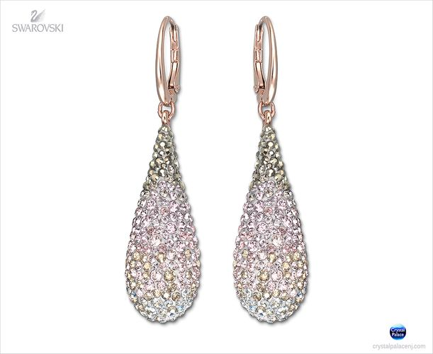 (SOLD OUT) Swarovski Abstract Nude Pierced Earrings