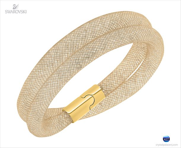 (SOLD OUT) Swarovski Stardust Beige Double Bracelet