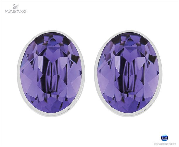 (SOLD OUT) Swarovski Bis Pierced Earrings purple