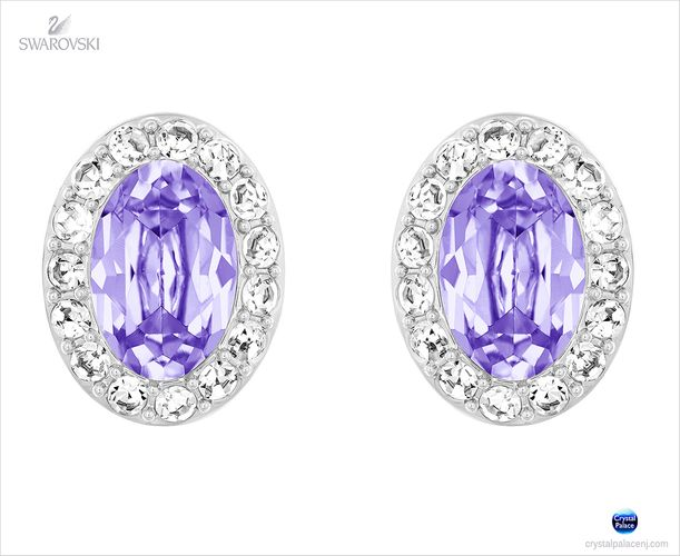(SOLD OUT) Swarovski Christie Pierced Earrings lavender