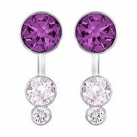 (SOLD OUT) Swarovski Slake Dot Pierced Earring Jackets  purple