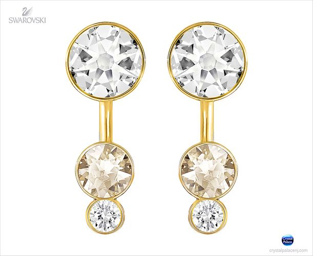 (SOLD OUT) Swarovski Slake Dot Pierced Earring Jackets crystal