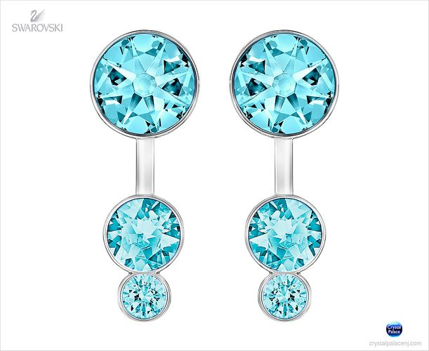 (SOLD OUT) Swarovski Slake Dot Pierced Earring Jackets aqua